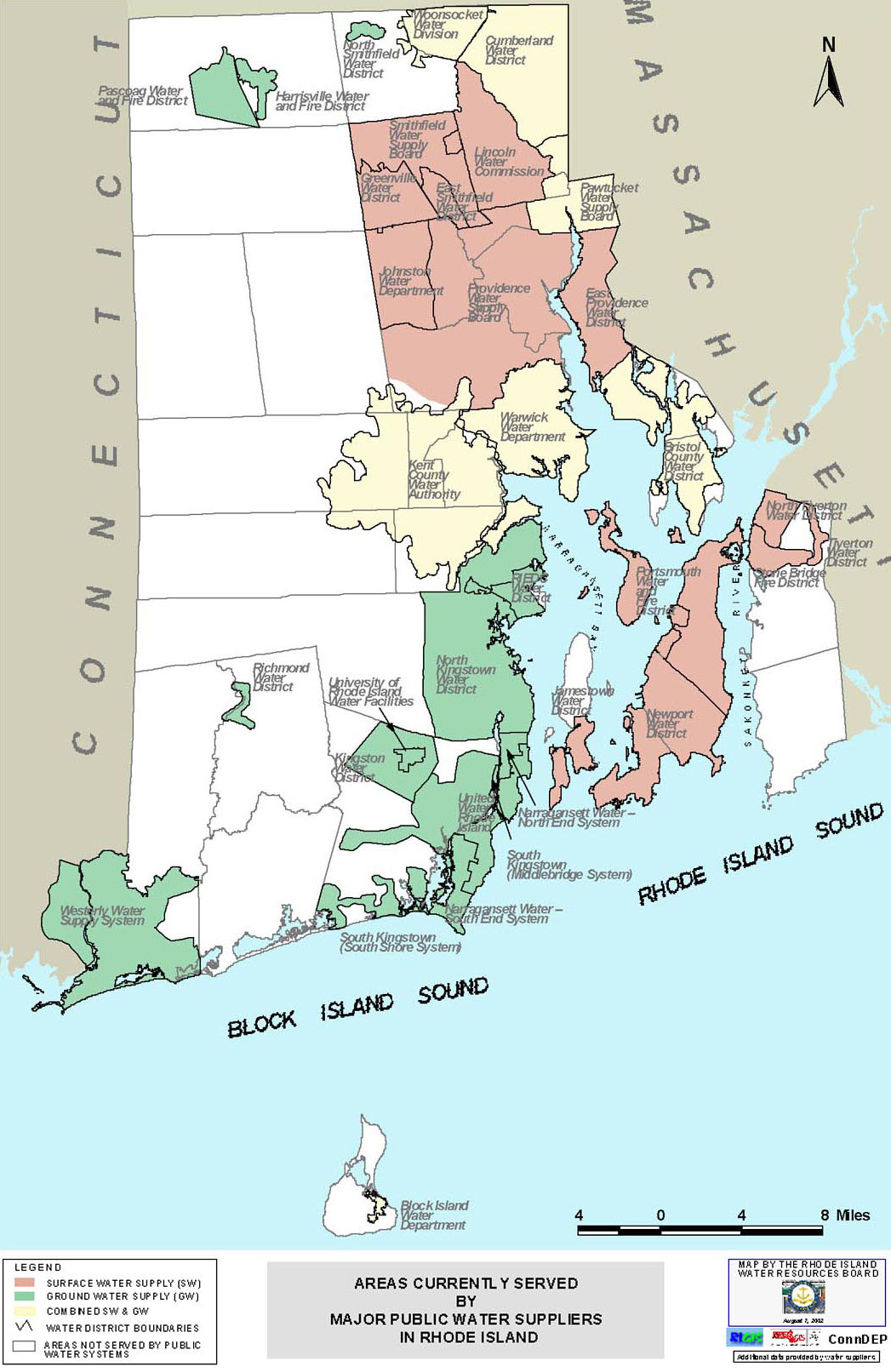 Water Suppliers RI Water Resources Board - Map of ri